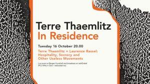 Terre Thaemlitz: In residence